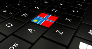 Close up of Creek button. Close up of Creek flag button on laptop keyboard royalty free illustration