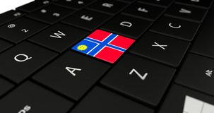 Close up of Creek button. Close up of Creek flag button on laptop keyboard stock photos