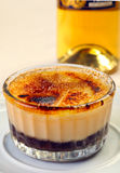 Close up of creme brule Stock Photography