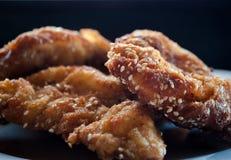 Golden Crispy Fried Chicken stock image