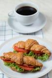 Close up Croissants breakfast food Stock Photo
