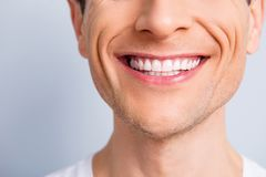 Close up cropped half face portrait of attractive, trendy, styli royalty free stock photo
