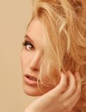 Close up cropped head shot of luxury woman Royalty Free Stock Photography