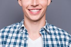 Close-up cropped portrait of cheerful stylish trendy good-lookin stock photos