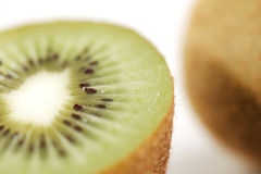 A close-up of a cross section of an organic kiwi fruit Stock Image