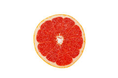 Close-up of cross-section red grapefruit Stock Images