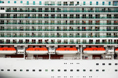 Close-up of cruise ship Royalty Free Stock Photography