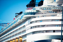 Close up of cruise ship. Stock Image