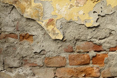 Close up of crumbling  wall with layers of peeled paint 5 Stock Photo