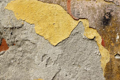 Close up of crumbling  wall with layers of peeled paint 4 Royalty Free Stock Photos