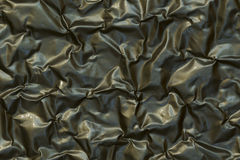 Close-up of crumpled aluminium  foil background texture. Royalty Free Stock Image