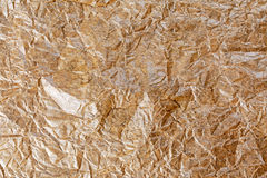 Close up Crumpled baking paper for background, texture. Stock Image