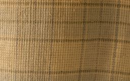Close up of crumpled fabric texture, linen cloth textile background of light fabric with Crisscross wave. Natural canvas pattern. Background. Studio shot with royalty free stock images