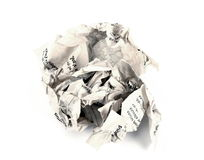 Close-up of crumpled paper stock photos