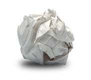 Close-up of crumpled paper ball royalty free stock images