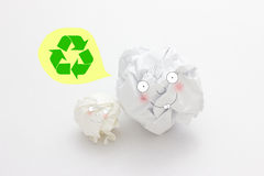Close-up of crumpled paper ball Stock Photos
