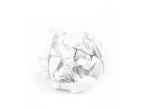 Close-up of crumpled paper ball stock photography