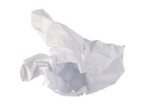 Close-up of crumpled paper royalty free stock image