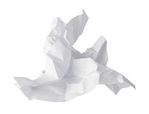 Close-up of crumpled paper stock photography