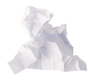 Close-up of crumpled paper stock photo