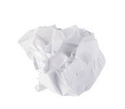 Close-up of crumpled paper stock image