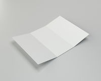 Close up of a crumpled unfolded piece. 3d rendering. Close up of a crumpled unfolded piece of paper. 3d rendering Stock Image