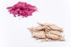 Close up of crushed cosmetics Stock Image