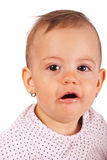 Close up of crying baby girl Stock Photos
