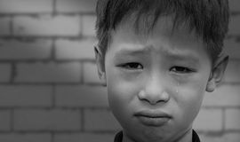 Close up of crying boy Stock Images