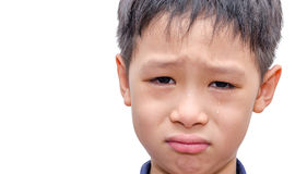 Close up of crying boy Stock Photos