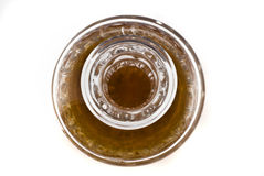 Close-up of Crystal decanterfor alcoholic beverage Royalty Free Stock Images