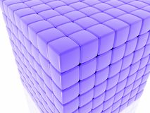 Close up of a Cube. Close up of a multi-layered purple cube Royalty Free Stock Images