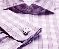 Close-up of cuff link Royalty Free Stock Image