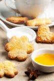 Close up of cugar cookies Stock Photography