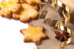 Close up of cugar cookies Royalty Free Stock Photo