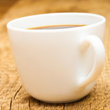 Close up of cup of americano on table Royalty Free Stock Image