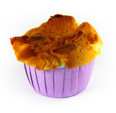 Close-up cup cake with almonds Royalty Free Stock Images