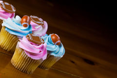 Cup Cake decoration Stock Photos
