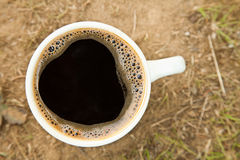 Close-up cup of fresh coffee Stock Images
