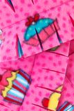 Close Up Cupcake Scarf Stock Photo