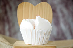 Close up cupcake on wooden Royalty Free Stock Images