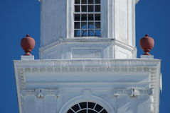 Close up Cupola on top of Legislative Hall in Dover, Delaware. Cupola on top of Legislative Hall in Dover, Delaware. Dover is Delaware's state capitol in the royalty free stock photo