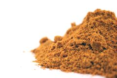 Close up of Curry spice on an isolated background Stock Photography