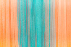 Close up of curtain blue and orange.Can be used as background Stock Photography