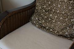 Cushion on arms chair stock photo