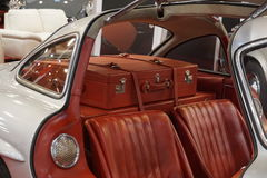 Close up of a custom made interior of an oldtimer Stock Image