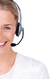 Close-up of a customer service agent Royalty Free Stock Image