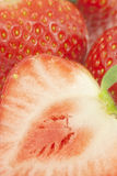 Close-up of cut strawberry. Royalty Free Stock Photography