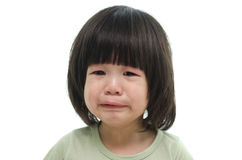 Close up of cute asian baby crying Stock Images