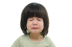 Close up of cute asian baby crying Royalty Free Stock Photos